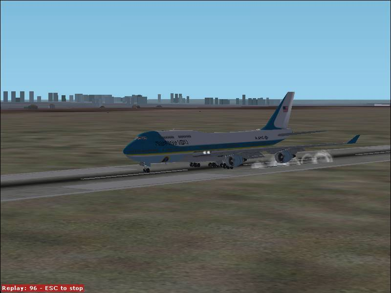 Fs2002 air force one taking off 744 surclaro flight for Another word for air