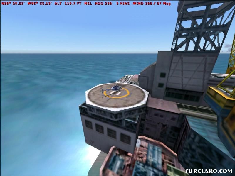 Here is an oil platform off the coast of Texas...  yes you can land  on the platform.  See my next screen shot uploaded. - Photo 5919