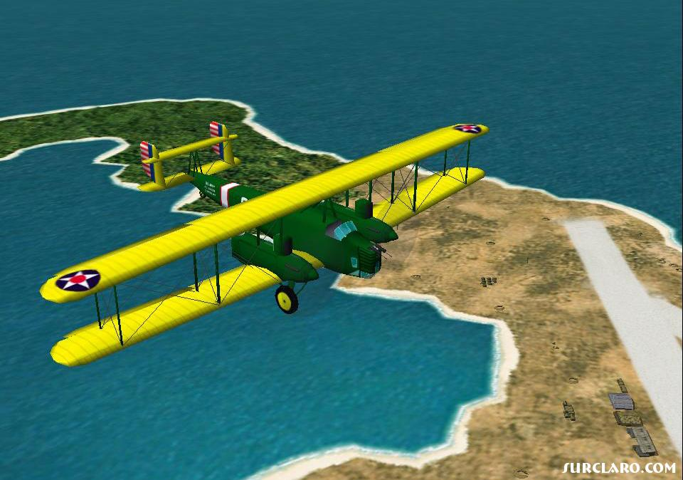 curtiss b2 over wake island. cfs2 - Photo 15700