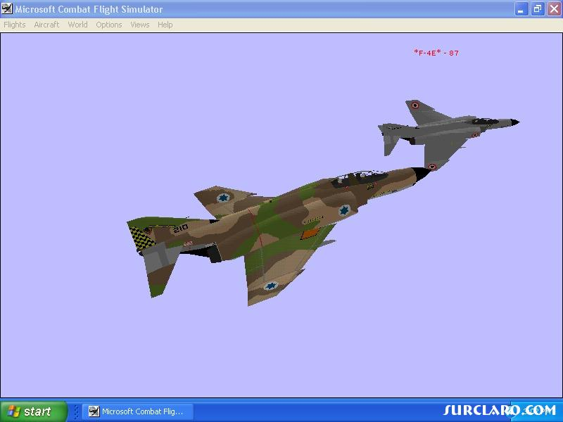 from phantom menace mission,simaviation israeli f4 vs iraqui f4 (i think} jet combat is very different and time consuming,wish i could fire missles.still interesting dogfighting with these big heavy beasts. - Photo 5359