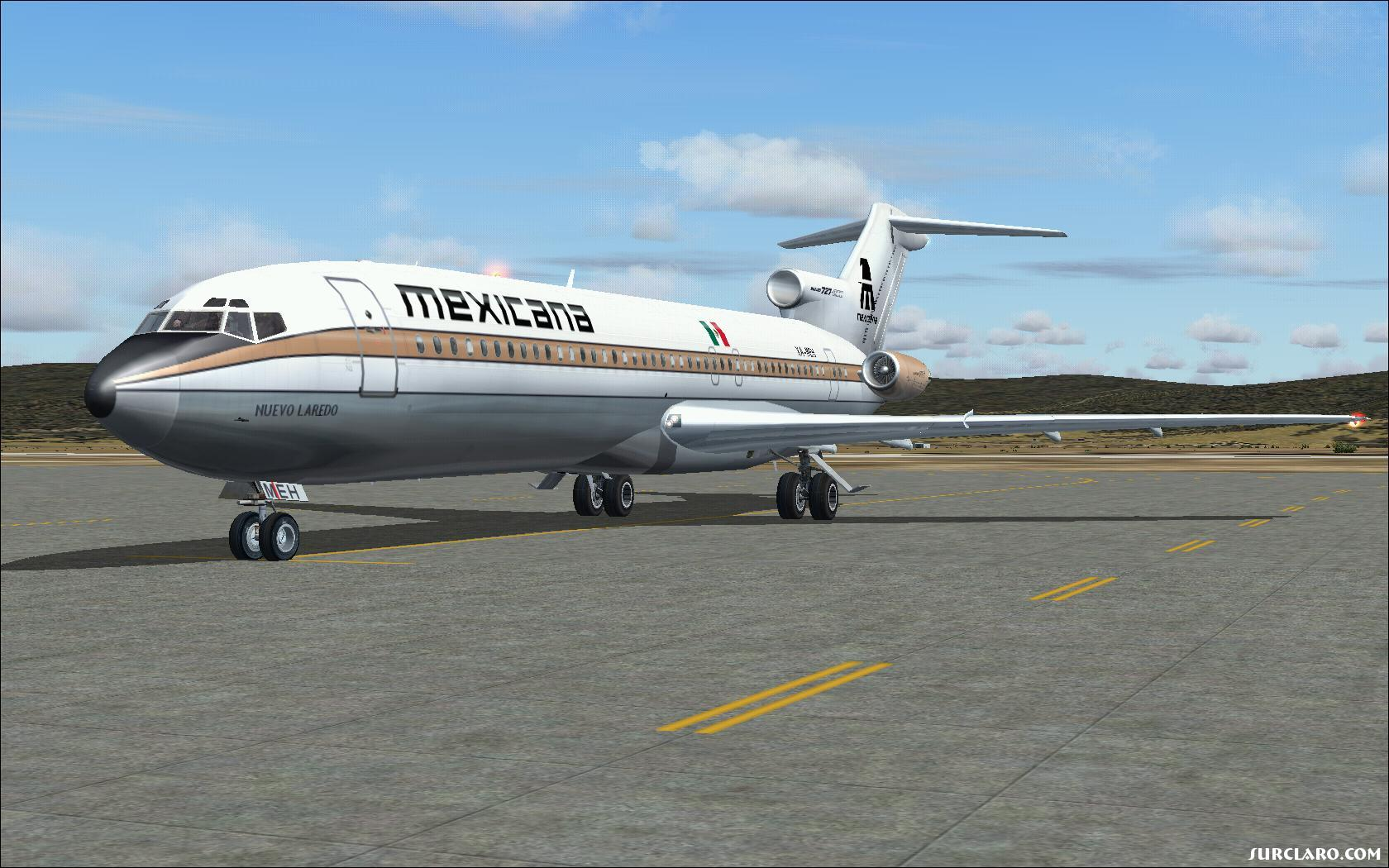 Mexicana B727-200.