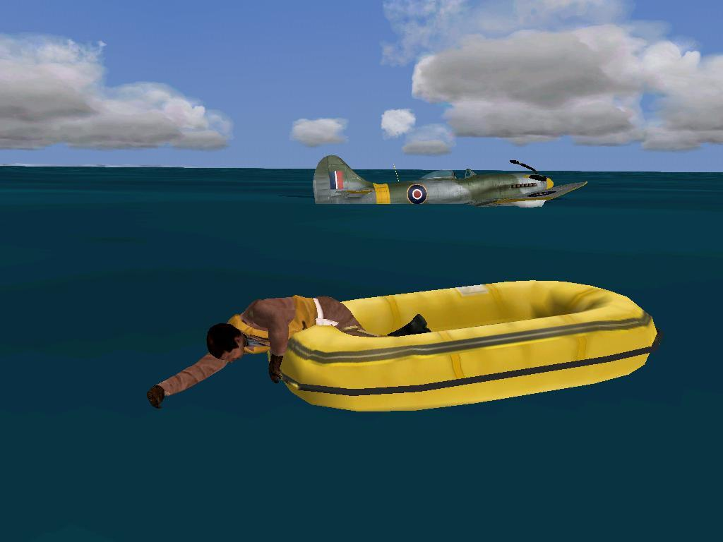 An emergency landing on water. The aircraft sank while the pilot washed his hair. - Photo 16653