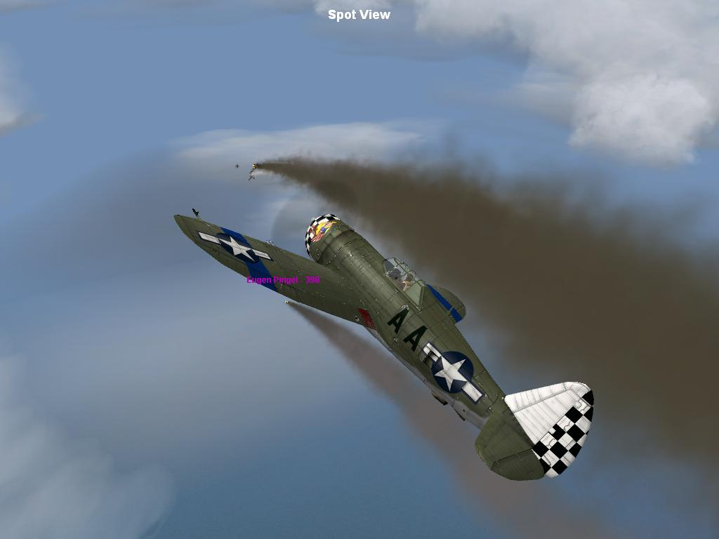 P-47D shoots down a Junker Ju-88 Over the English Channel - Photo 2154