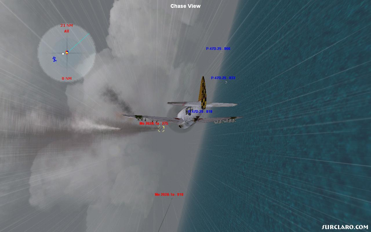 p-47 (me) kills me-262 jet (smoking ball of fire) - Photo 9271