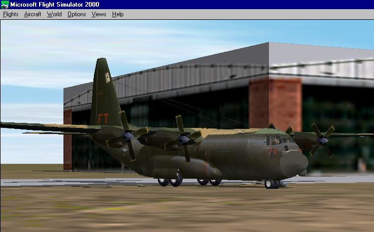 This is my AC-130 gunship parked at Denver Intl. This airplane is so cool, i recommend it to everyone. At flightsim.com. - Photo 1938