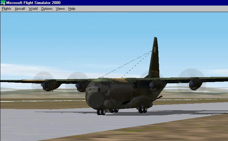 My AC-130 gunship after a successful patrol over Colorado. - Photo 1958