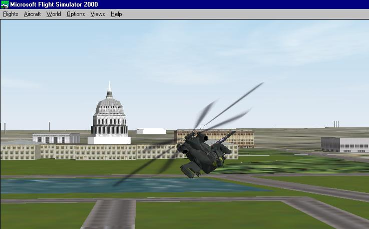 This is a Navy CH 53 making a pass by the United States Congress. - Photo 1932