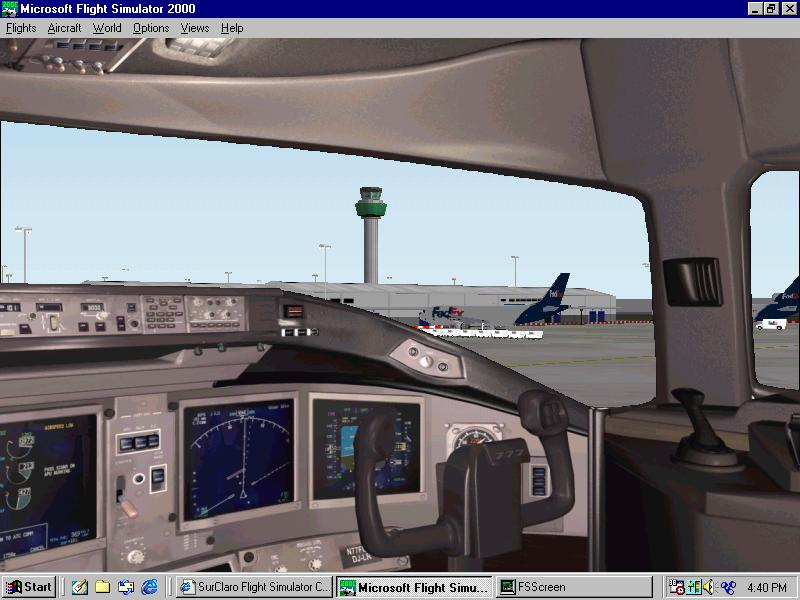 View of Stansted International from inside the cockpit of a boeing 777. - Photo 170