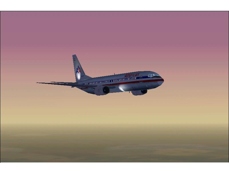 737 over chicago at sunset.  - Photo 177