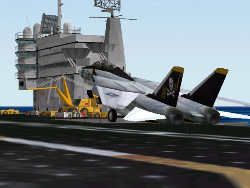 Tomcat jolly-roger returning to USS John C. Stennis - Photo 150
