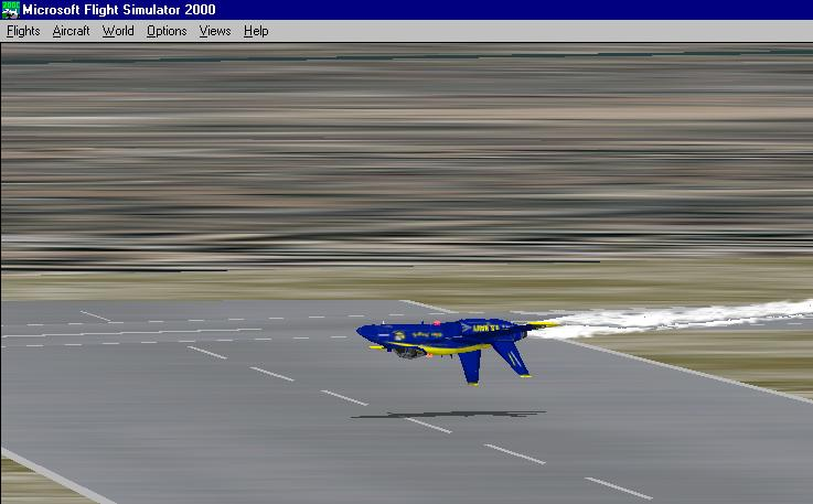 This is one of the Blue Angels flying inverted for a Frenchy airshow. It is hard to fly low and inverted, believe me, i crashed hundreds of times doing this. - Photo 1860