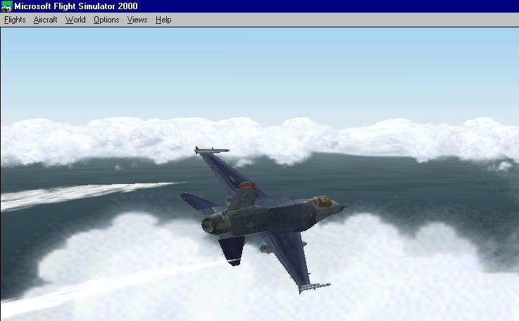 This is my F-16 flying over the Arabian Gulf. Clouds in my way though... - Photo 1855