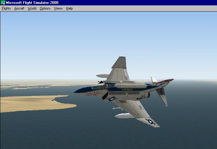 This is my F-4 Phantom flying over the Arabian Gulf. Just waiting for Saddam.... - Photo 1861