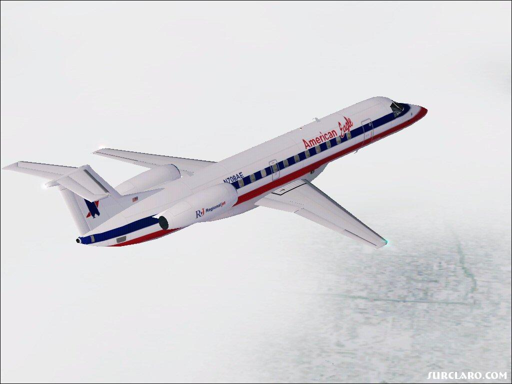 American Eagle ERJ-135 climbing after takeoff JFK - Photo 16512