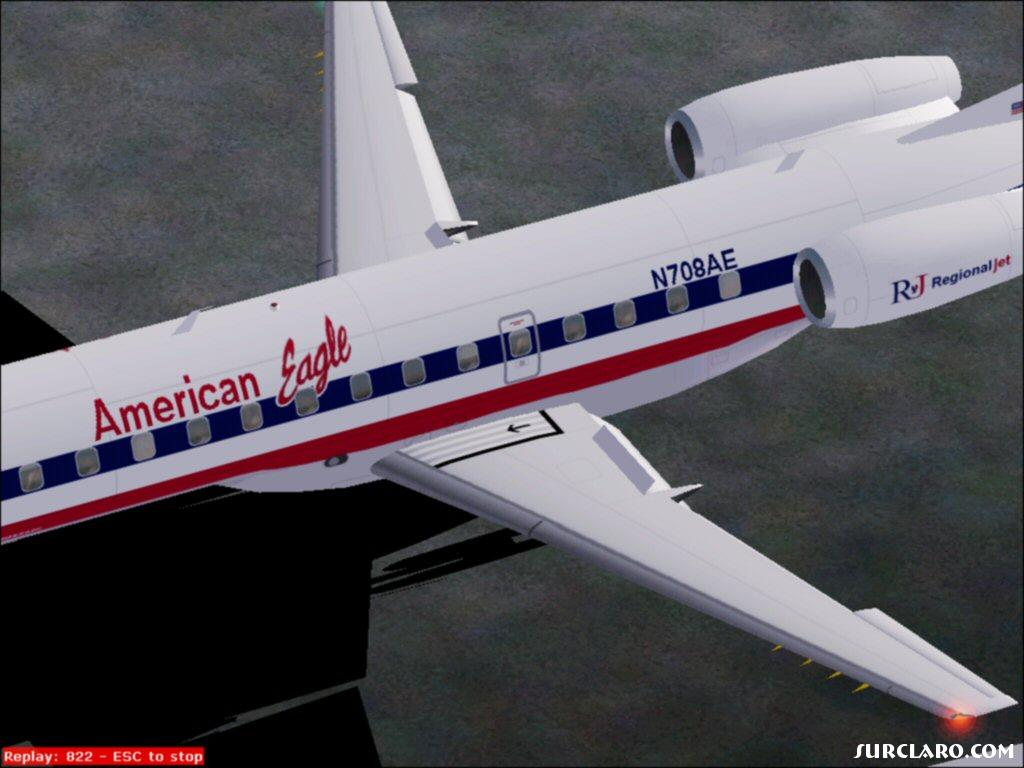 American Eagle ERJ-135 reverse throttle and airbrakes - Photo 16515