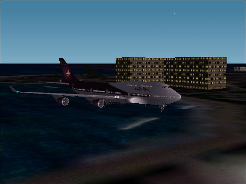 A Boeing 747-400 is about to land at Princess Juliana Intl airport. - Photo 193