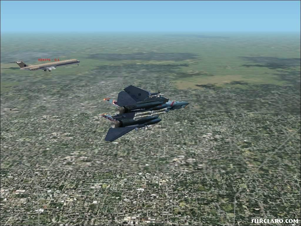 The Mad Dog is AI-Traffic and I�m flying the F-14. 