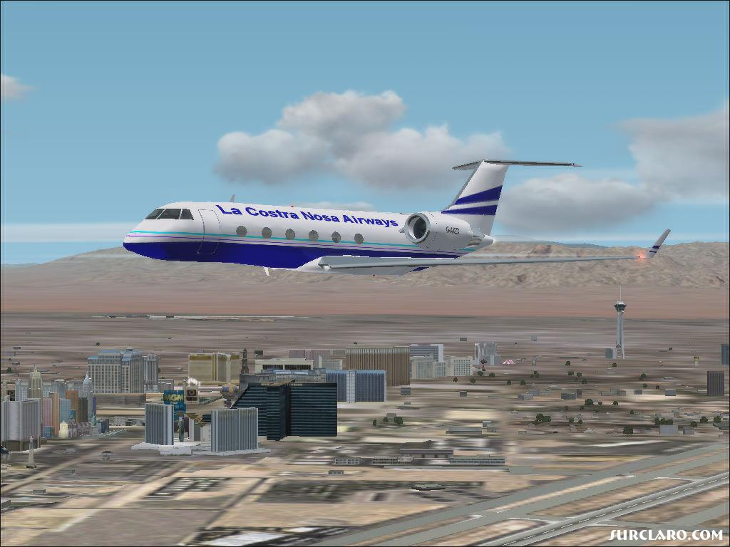 Gulf Stream Private,,  Custom Painted using Paint Shop Pro !                   Flying over Las Vegas Nevada.                                 By : JetRanger0007                    6/18/2005  - Photo 8810