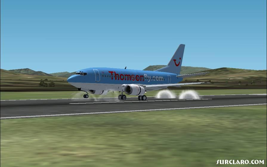 Thomsonfly 737-500 after touching down in Malaga from Cardiff. - Photo 16316