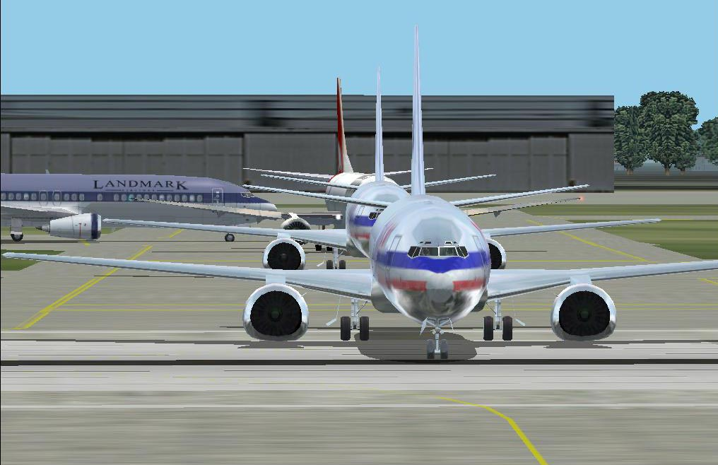 Waiting for take off..hold short runway 27, 2 American Airlines in front of me.. - Photo 596
