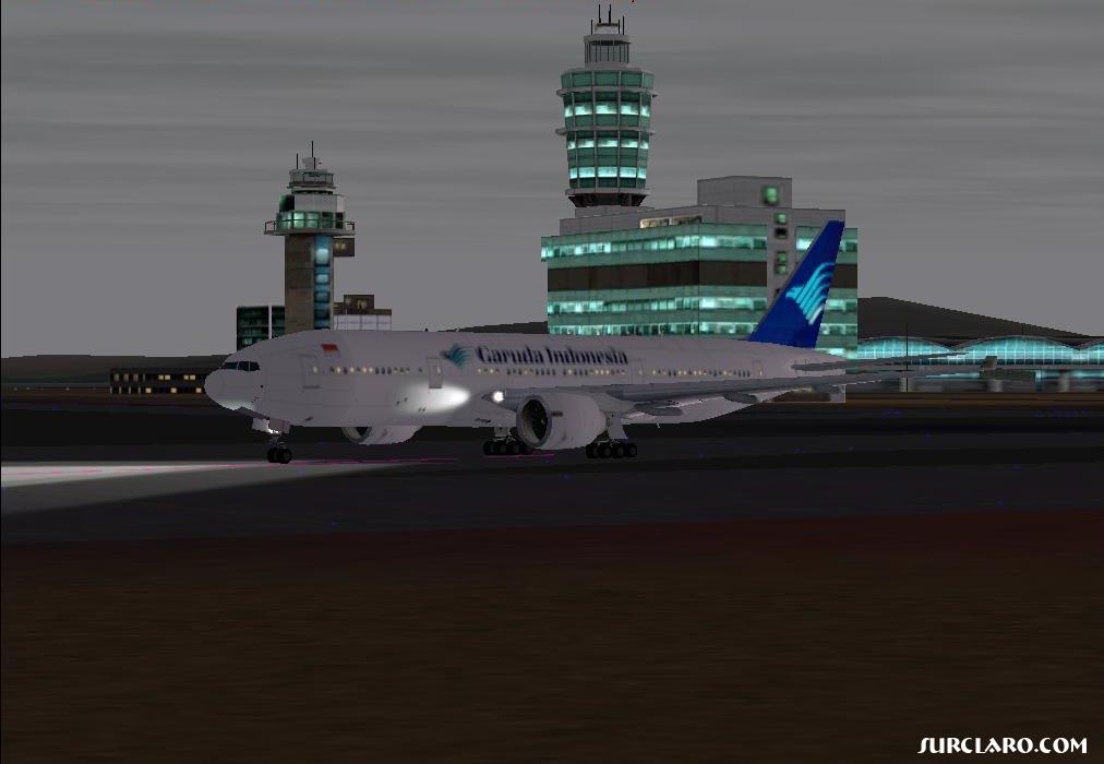 Taxiing at night in Hongkong,before take off,IFR to Soekarno Hatta Intl Airport Jakarta,Indonesia with Boeing 777-200ER - Photo 476