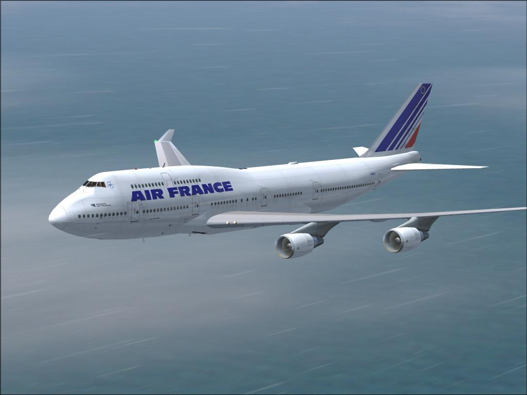 FS2004 | 747 AIR FRANCE (3316) - SurClaro Flight Simulator