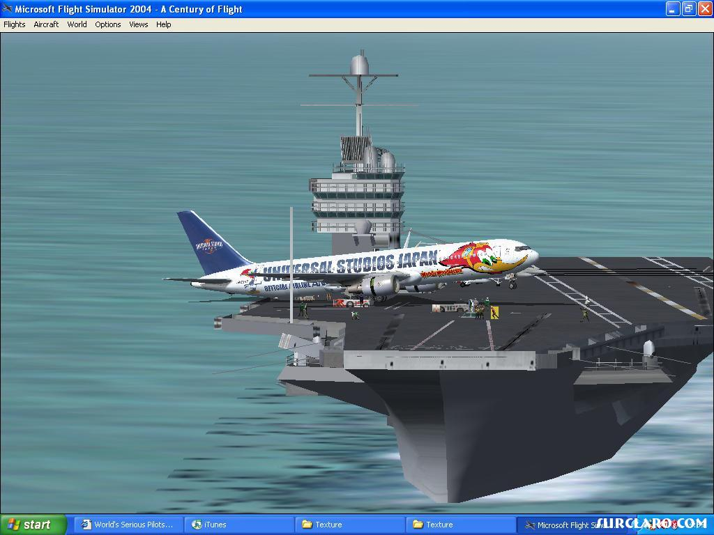 FS2004 767-300 Pulling A Wheelie On Carrier (7154) SurClaro Photos