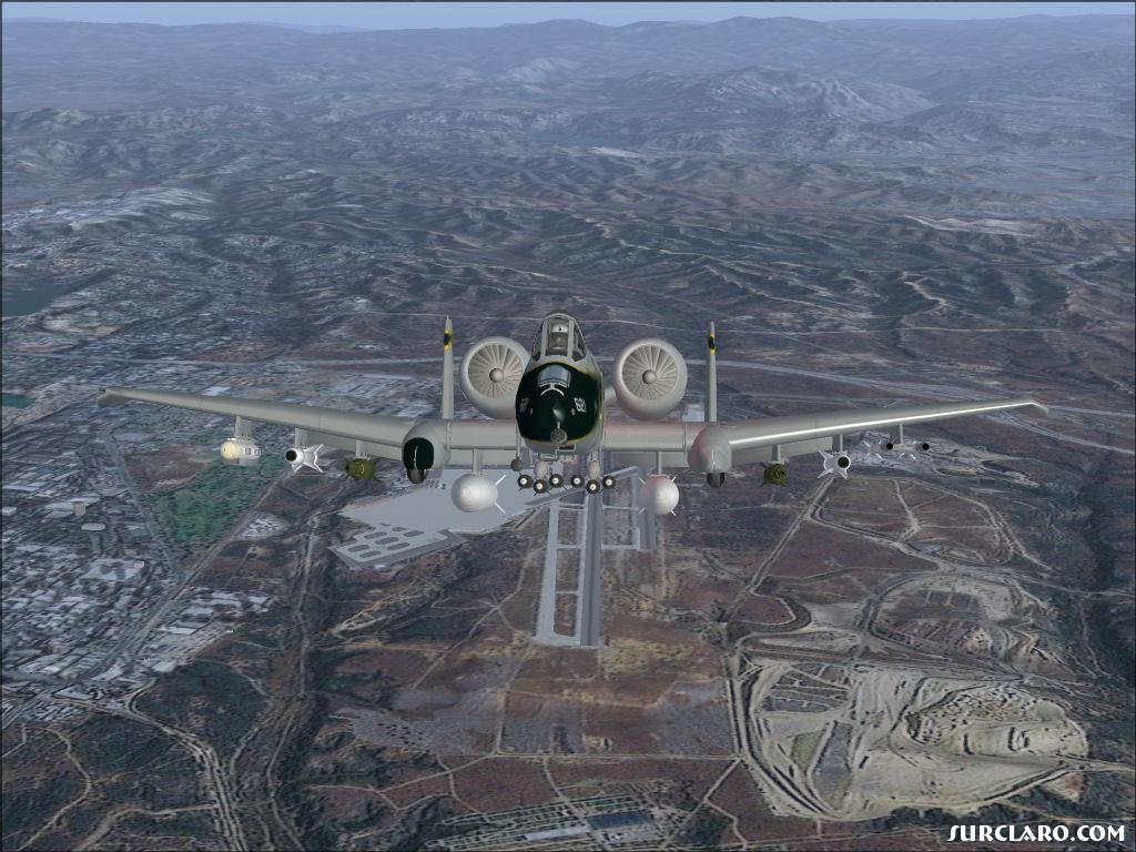 Here's looking at you kid. A10 after takeoff from Miramar MCAS in San Diego - Photo 13729