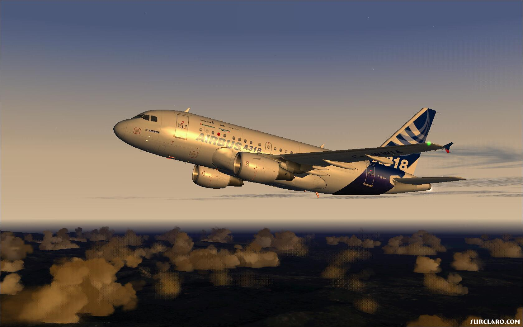 Airbus Industrie A318-100 dawning. - Photo 18747
