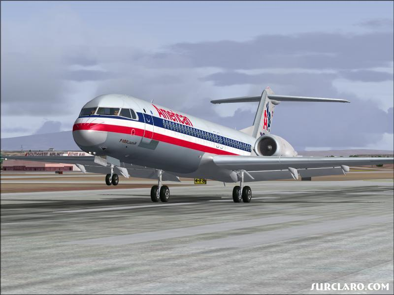 American Airlines F-100, landed @ KPHX after a short flight from KTUS. - Photo 13638
