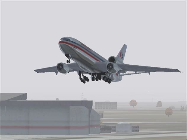 American DC-10 Taking off from DFW to Atlanta - Photo 3749