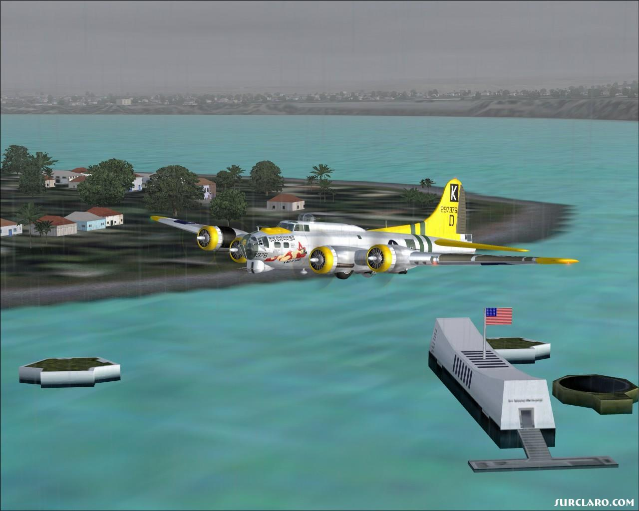Saluting the fallen hero's of the USS Arizona in my B-17! - Photo 13786