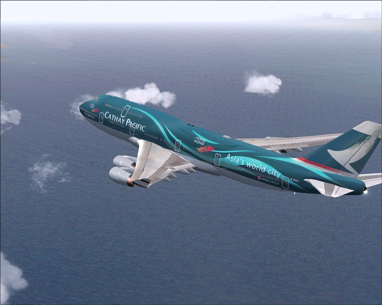 AWESOME 747 CATHAY GOING HOME FROM KLAX. - Photo 8035