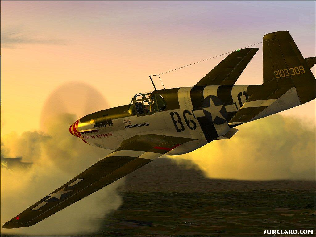 P-51B Heading home. This is one of my favorite screens. - Photo 10364
