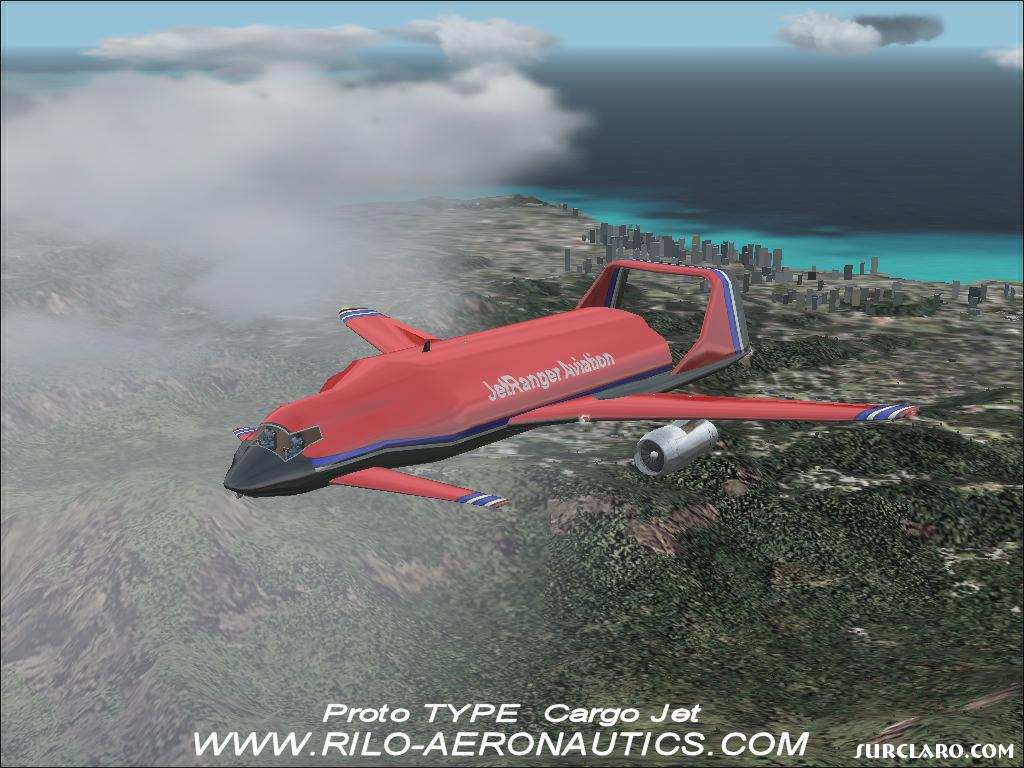 Heres a different type of Jet to Fly,, has opening doors and is FREEWARE !!                From : WWW.RILO-AERONAUTICS.COM - Photo 10214