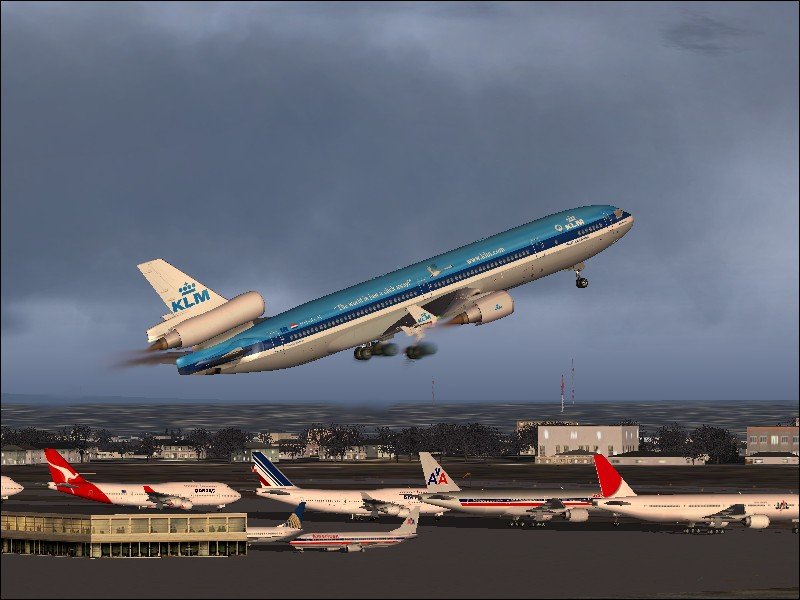 KLM MD-11 departs Toronto Pearson I'nt for Amsterdam...rate this please!! (FS2004) - Photo 3831