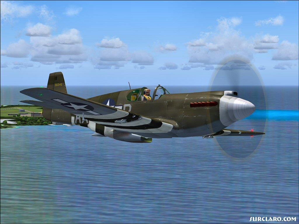 P-51 over Midway Island - Photo 10274
