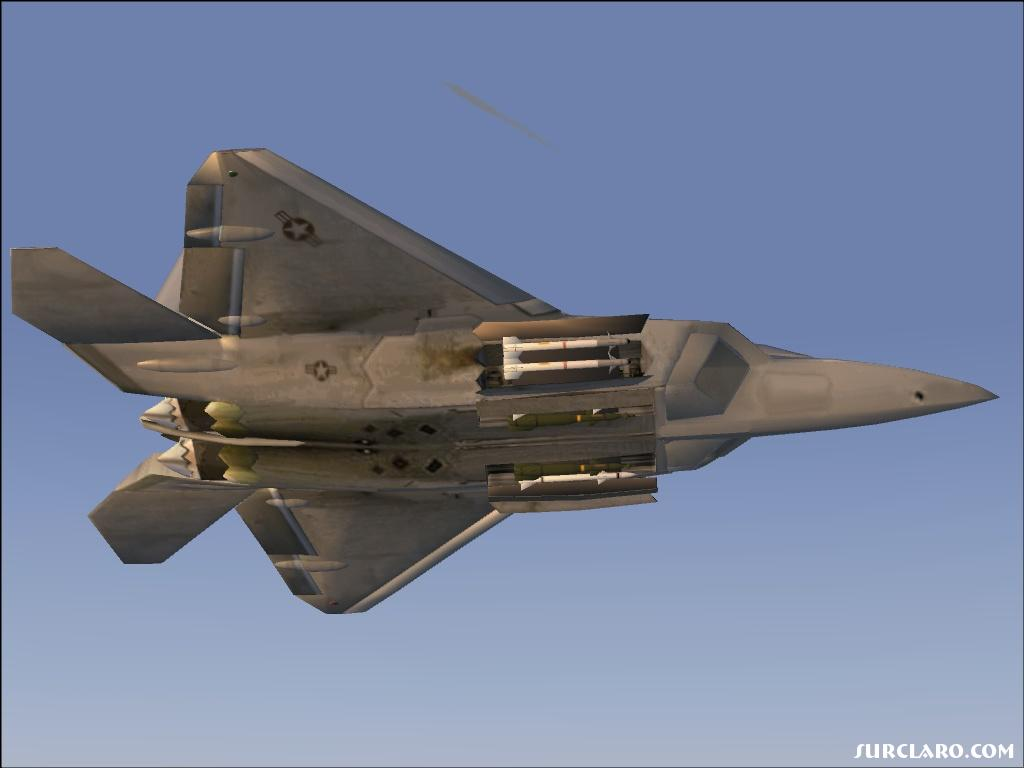 Underside view of the Raptor at sunset. - Photo 11513