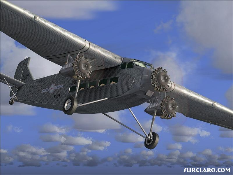 Fs2004 United Airlines Ford Trimotor At Dawn 5899