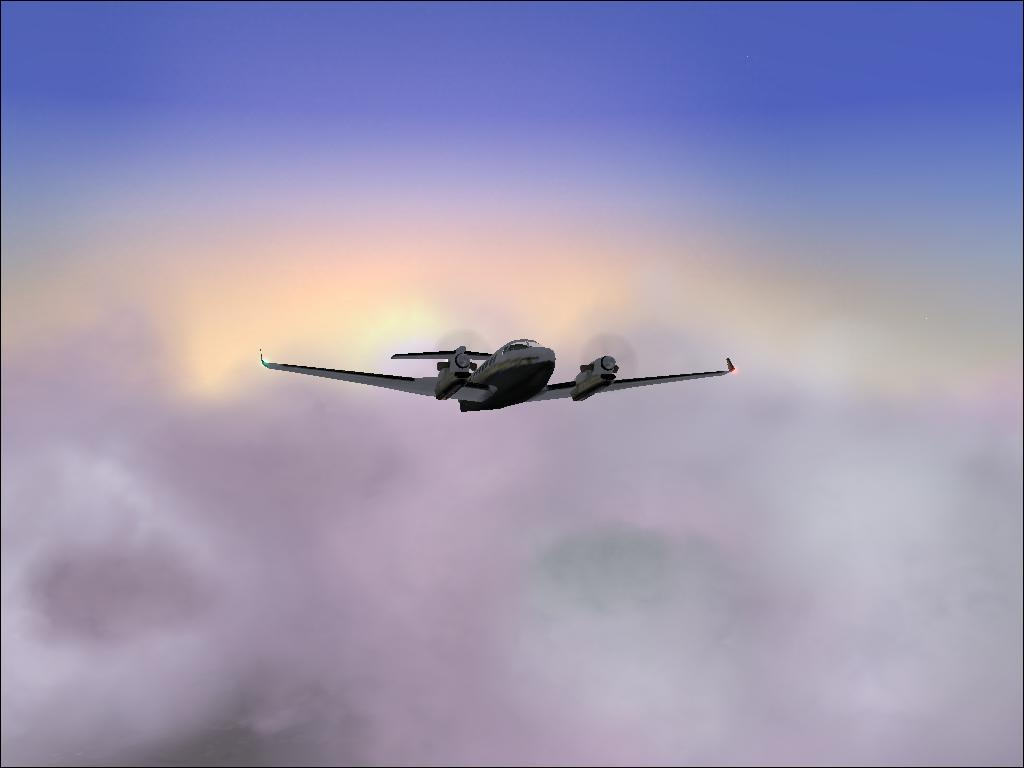 Climbing out of clouds for some CAVU - Photo 4337