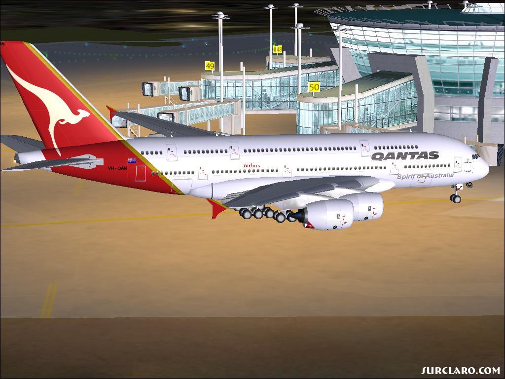 FS2004 A380 Parked At Gate 50 (8654) SurClaro Photos
