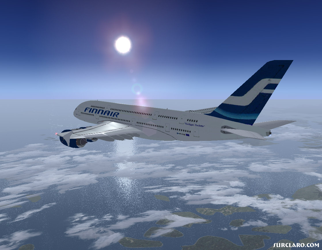 FS2004 Calm Flight With Finnair A380 17943 SurClaro Photos