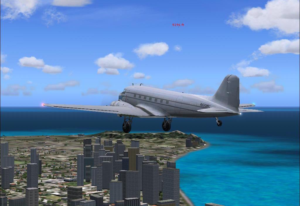 DC 3 fly over Honolulu..when at 5296..traffic is Learjet - Photo 3114