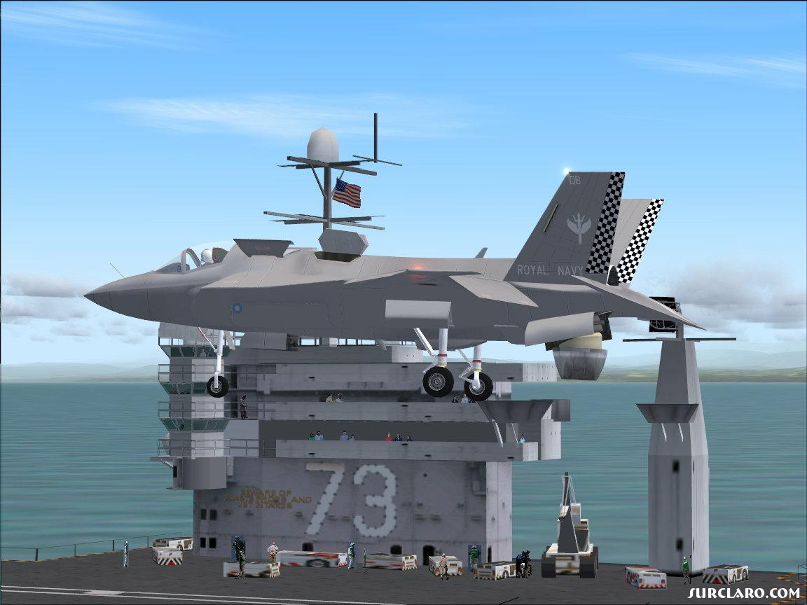 Royal Navy F35 awaiting clearance to land - Photo 10351