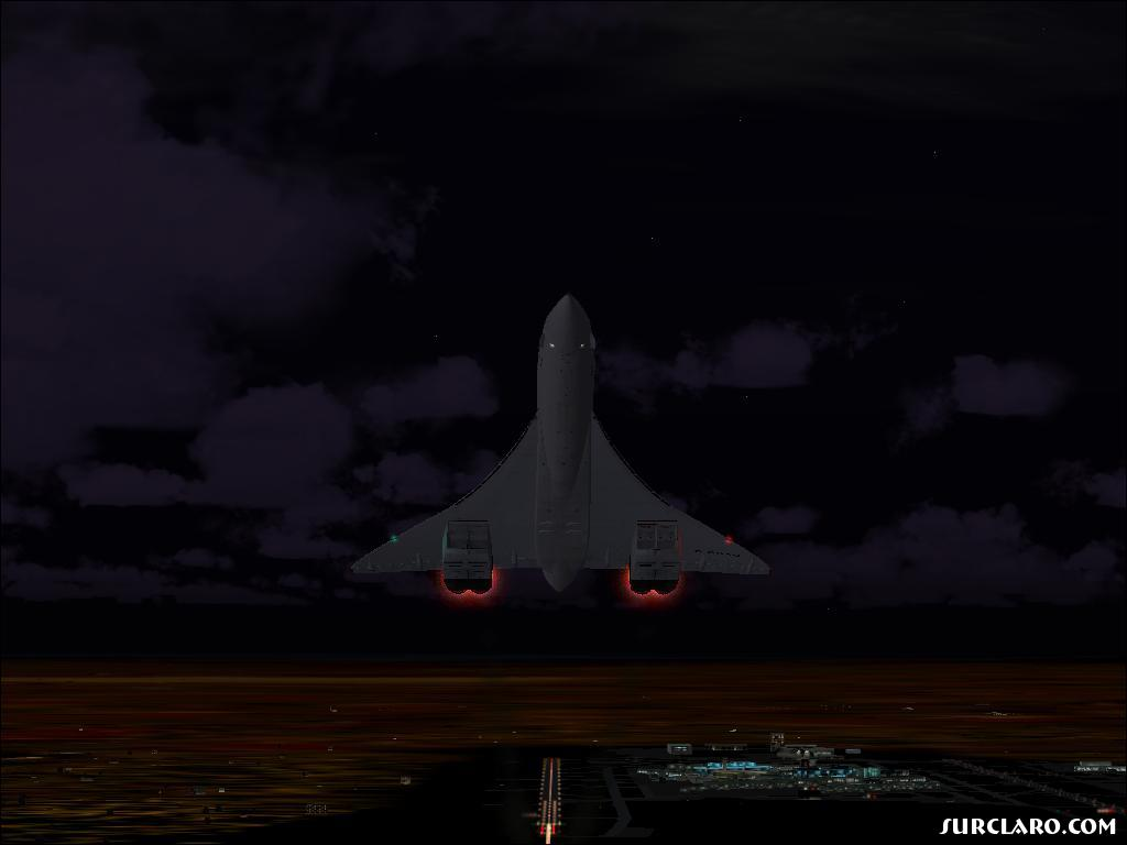 Concorde Taking Off From Heathrow At Night