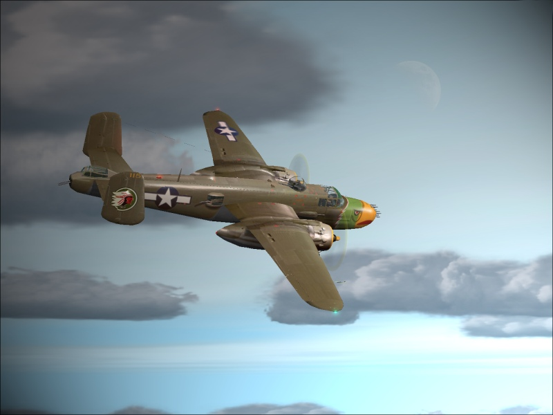 B-25 departing for an evening-flight anno 1943! - Photo 3794