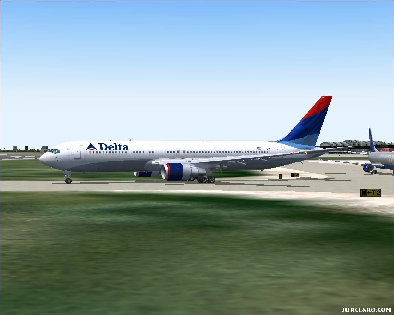 Boeing 767 Delta Airlines...waitng for permission to take off from SEA. 