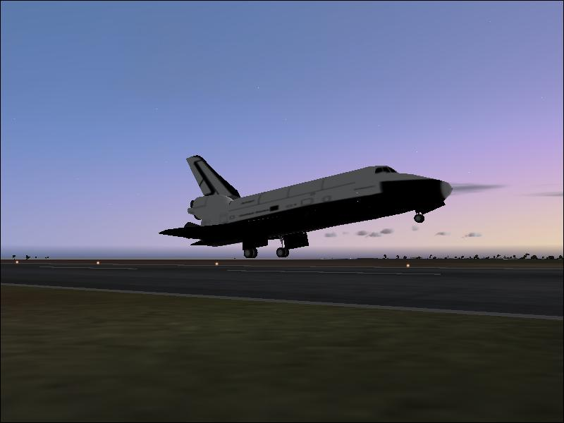 FS2004 Space Shuttle Landing At Dusk (4137) SurClaro Photos