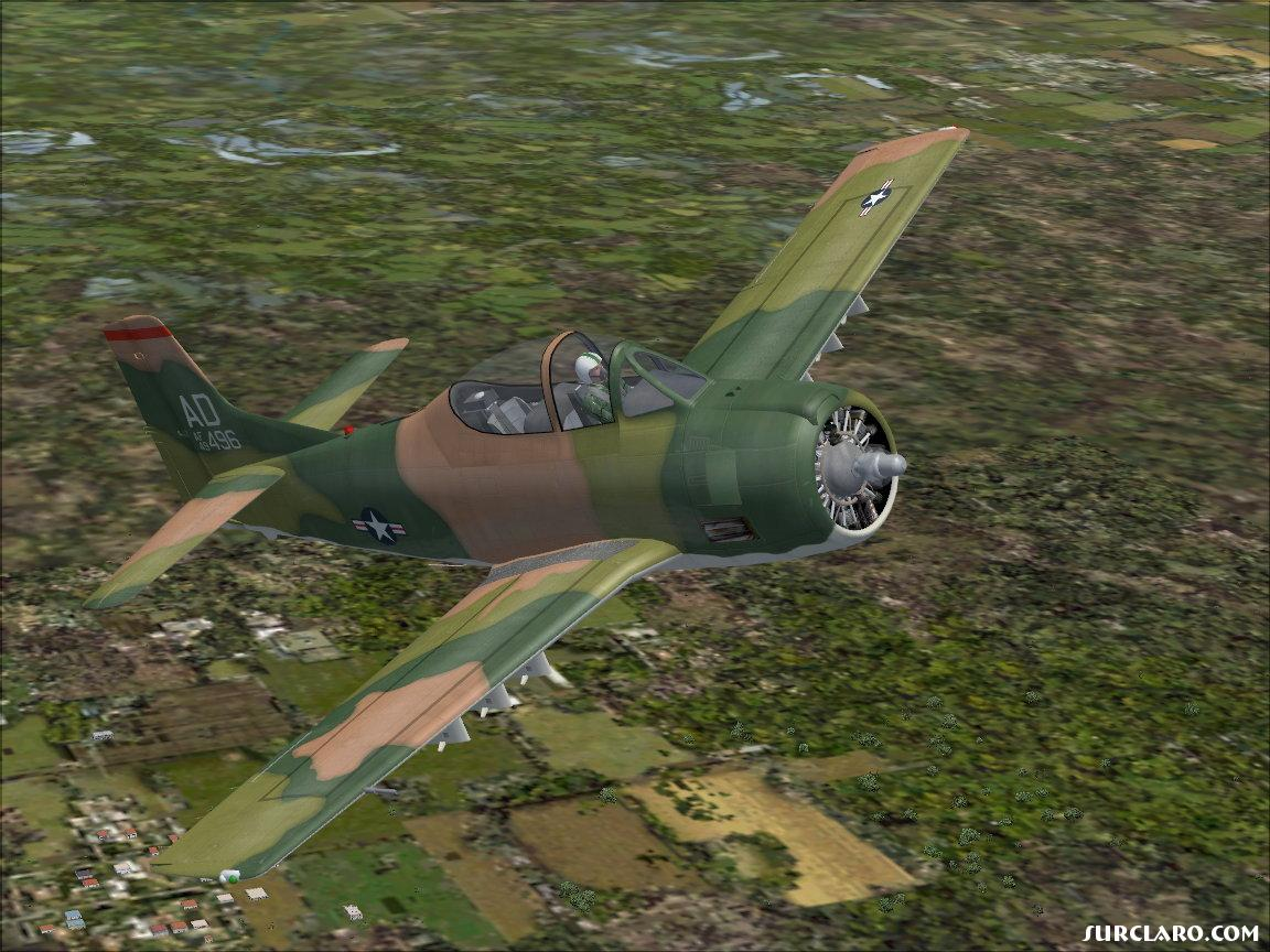 USAF Trojan over the jungle - Photo 10194