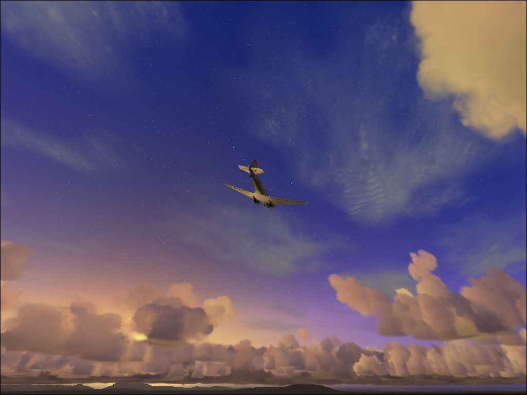 The sky of FS2004. Cool! - Photo 3533